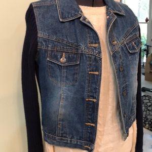 Route 66 blue jean sweater Jacket